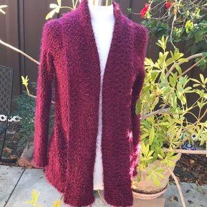 Magenta Fuzzy Sweater
